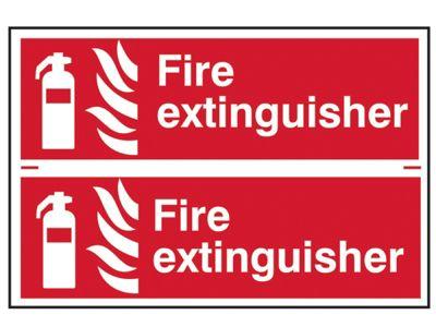 Scan Fire Extinguisher - PVC 300 x 200mm