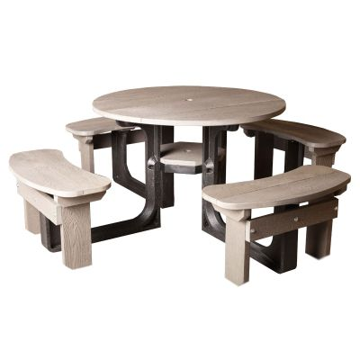 Round Picnic Table - Grey