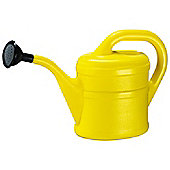 2L Children's Yellow Plastic Garden Watering Can with Rose