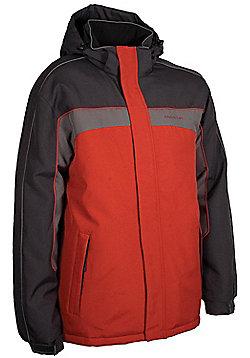 Schiller Mens Ski Snowboarding Winter Snow Proof Hooded Jacket Coat - Red