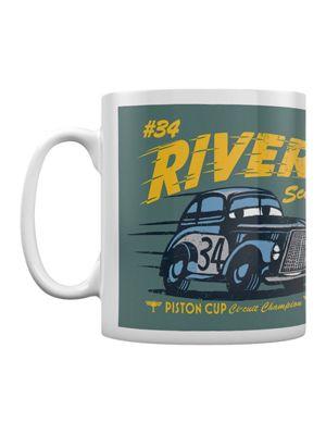 Cars 3: The Movie Legend Of The Track - River Scott Boxed 10oz White Ceramic Mug