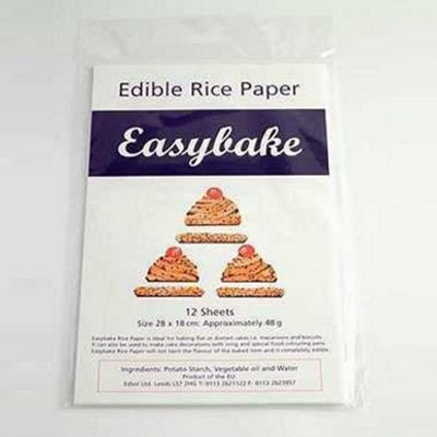 Easybake Edible Rice Paper White 12 Sheets