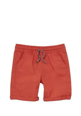 F&F Drawstring Poplin Shorts Orange 5-6 years
