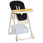 Homcom Baby Highchair Feeding Seat Toddler Adjustable Recline 108H - Black
