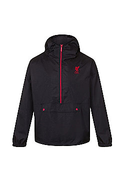 Liverpool FC Boys Shower Jacket - Black