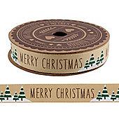 Merry Christmas Tree Ribbon