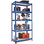 VonHaus - 1.8m Heavy Duty Steel & MDF Boltless 5 Tier Racking Shelf or Workbench - Massive 1325Kg Capacity: