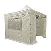 All Seasons Gazebos, Heavy Duty, Fully Waterproof, 3m x 3m Superior Pop up Gazebo Package in Beige