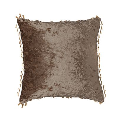 Chocolate Crushed Velvet Cushion 18