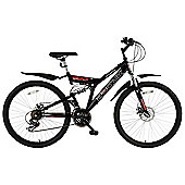 "Bronx Bolt 26"" Wheel Dual Suspension Mountain Bike Black/Red"
