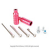 Scooter Stunt Pegs Set + Fixing Bolts - Hot Pink