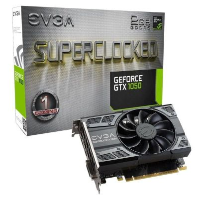 EVGA NVIDIA Geforce GTX 1050 SC Superclocked Gaming 2 GB GDDR5 128 bit Memory PCI Express 3 HDMI/Displayport/DVI Graphics Card - Black