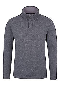 Mountain Warehouse Alpha Mens Button Neck Top - Black