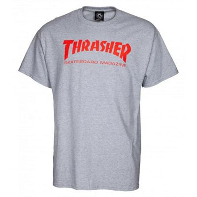 Thrasher Skate Mag T-Shirt - Grey/Red X- Large