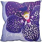Live Simply, Purple Floral Cushion