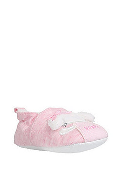 F&F Faux Fur Lined Bunny Shoes - Pink