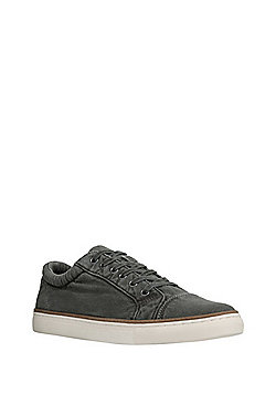 F&F Washed Lace-Up Canvas Shoes - Grey