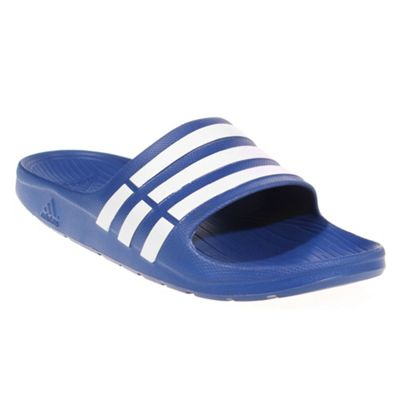 adidas Duramo Slide Mens Flip Flop Sandal - Royal Blue, UK 7