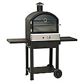 Lifestyle LFS692 Taranto Stainless Steel Outdoor Gas Garden Pizza BBQ Oven - Black