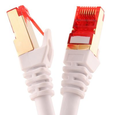 Duronic White 0.5m Cat6a Network cable