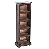 Homcom Wooden DVD Media Storage Cabinet Unit 5 Tiers 115 CD Rack - Brown