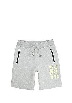 F&F Brooklyn 86 Sweat Shorts - Grey marl