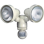 Timeguard 150w PIR Twin Spot Light - White