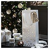 Gold Star Christmas Bottle Bag
