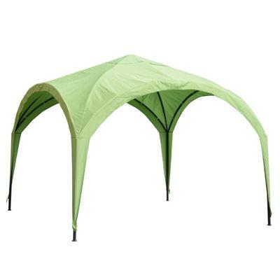 Outsunny 3x3M Gazebo Outdoor Garden Sun Shelter Patio Spire Arc Pavilion Camp Sun - Green