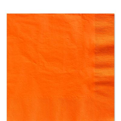 Orange Luncheon Napkins - 2ply Paper - 100 Pack