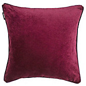 McAlister Red Matt Velvet Cushion Cover - 43x43cm