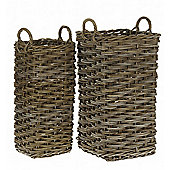 Small Grey Rattan Umbrella Stand