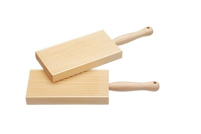KitchenCraft Home Made Traditional Wood Butter and Gnocchi Paddles