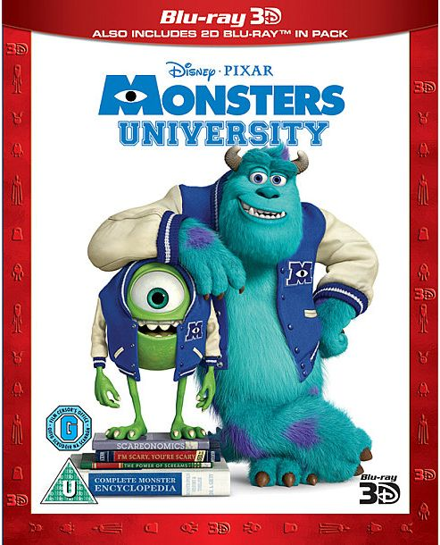 Monsters University 3D Bd (3 Disc 2 Bd 2D +1 Bd 3D)