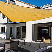 Outsunny Sun Shade Sail UV Resistant Canopy Shade Awning w/ Portable Bag (Triangle 3m, Sand)