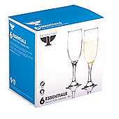 Ravenhead Essentials Ascot Champagne Flute Glases - Pack of 6 - 18cl
