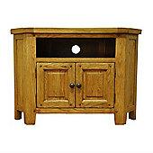 Cambridge Petite Rustic Oak Corner TV/HiFi Unit