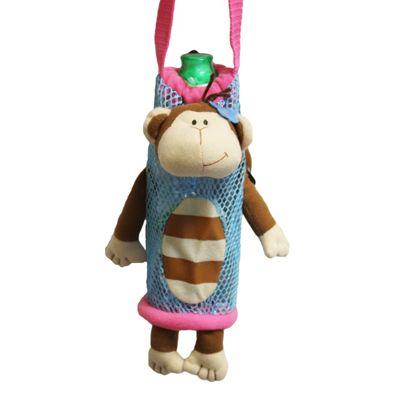 Children's Water Bottle Holder - Girl Monkey