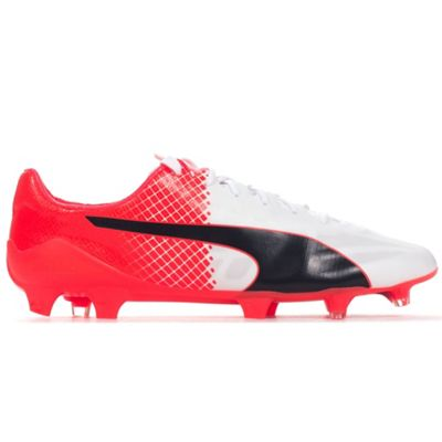 Puma evoSPEED SL 2 FG Mens Football Boot Shoe Red/White - UK 9.5