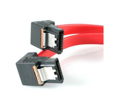 StarTech 18 Latching Right Angle SATA Cable Red