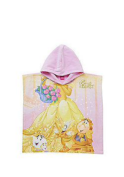 Disney Beauty and the Beast Hooded Towel Poncho - Yellow multi
