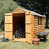 8 x 6 Sutton Overlap Apex Shed Double Doors Garden Wooden Shed + 2 Windows 8ft x 6ft (2.44m x 1.83m) - Fast Delivery - Pick A Day