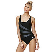 Zoggs Swimshapes Contrast Panel Swimsuit - Black