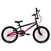 "Tiger UCX2 20"" Alloy Wheel 10"" Hi-Ten Frame BMX Bike Black/Pink"