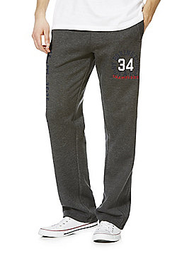 F&F Collegiate Logo Regular Fit Joggers - Grey