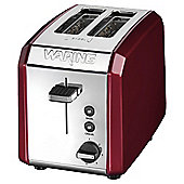 Waring WT200RU 2 Slice Toaster - Red & Stainless Steel