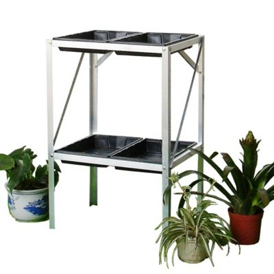 Nison 2 Tier Greenhouse Staging With 4 Seed Trays