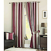 Dreams n Drapes Whitworth Claret Lined Eyelet Curtains - 90x90 inches (229x229cm)