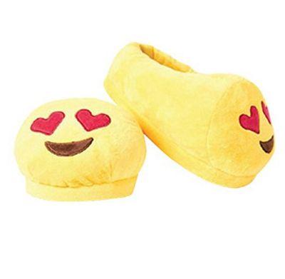 Heart Eyes emoji Foot Cushion Slippers (Small UK 1 - 4)