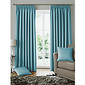 Solitaire Ready Made Pencil Pleat Curtains - Fully Lined - 4 Colours available - Blue